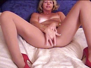 Mart Grown-up Masturbates Alongside White Pantyhose