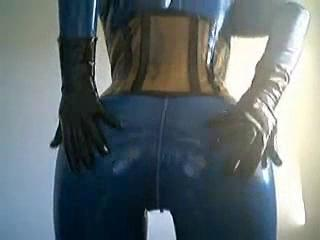 Blue Latex doll