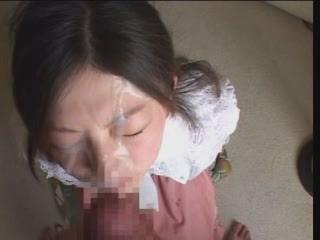 Asian Skirt Recieves Huge Muddy Facial 4