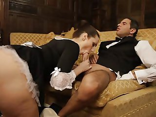 British slut Paige gets fucked by the butler