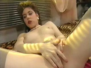 "From The Early 90s: French Cutie Plays With Red Dildo"" class=""th-mov"