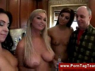 "Three pornstars sucking a lucky dude "" class=""th-mov"