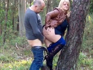 Amateur  Clothed Doggystyle  Older Outdoor Wife