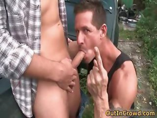Sexy muscled hunk takes big gay dick part4
