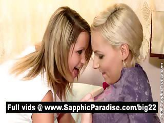 Cute Blonde Lesbians Kissing And Liking Nipples And Having Lesbian Sex