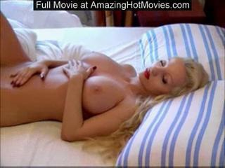 "Busty shaved blonde goddess sleeping naked spreading long le"" class=""th-mov"