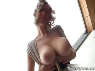 Sexy blonde babe goes crazy rubbing her part2