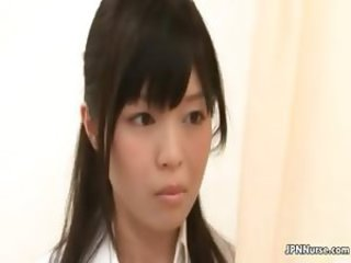 Cute Japanese nurse loves masturbating part3