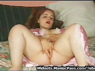Midget taking cock like a pro