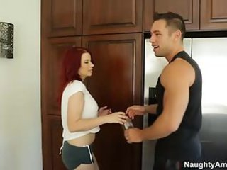 big tit redhead Sarah Blake gets fucked by her friends cheating husband