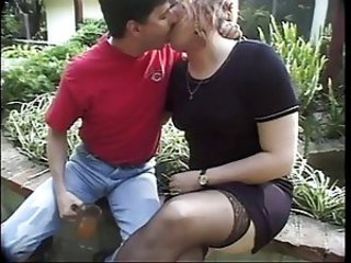 Chubby Kissing  Outdoor Stockings Vintage