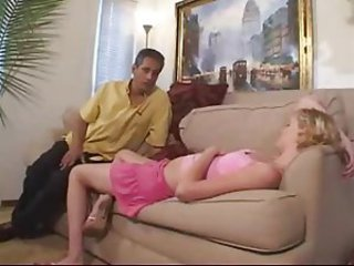 Babysitter fucked by man of the house