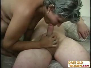 Plump hairy MILF gets chubby dick