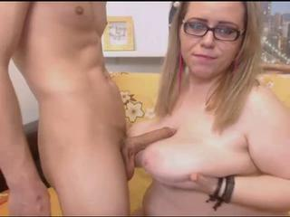 Big Tits Chubby Girlfriend Glasses Natural  Tits job Webcam