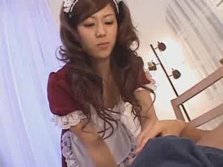 Cute Japanese Maid Sucks And Fucks Her Boss Dm720