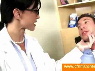 Female dentist undresses a guy
