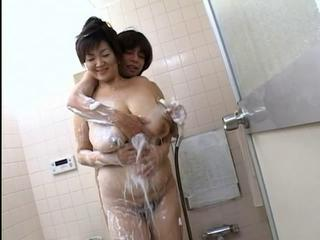 Asian Big Tits Chubby Mature Mom Natural Old and Young Showers