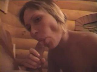 Russian slut fuck at sauna