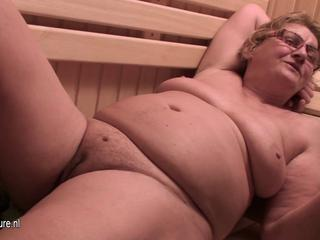 Chubby Glasses Mature Mom