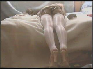 Stocking White Miniskirt Nylon Shemale Chile Javiera Trans