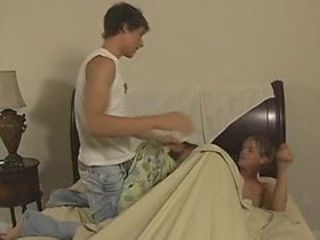 Blair Mason surprises Dillon Samuels in bed and A coupl...