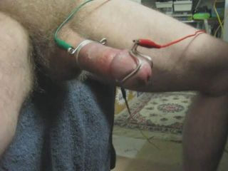 e-stim electrodes to music and porn