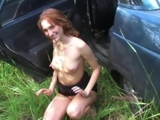 Sleaze ginger Dilettante Blowjobs And makes love inside the Car