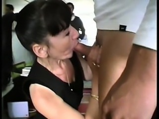 Martine is a french mature gangbanged