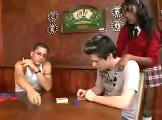 Poker Game _: black and ebony hardcore interracial