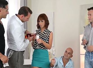 Tina Hot vs. 4 guys _: anal double penetration hungarian