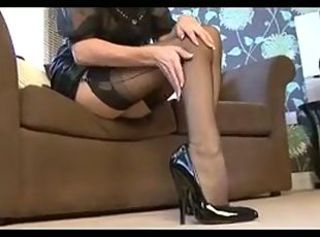 Fingering in Nylon _: milfs masturbation nylon stockings handjobs