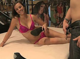Cute Summer Rae gets deep penetration action in bed _: blowjobs brunettes foot fetish tits teens