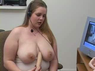 Hot Bbw Fucks Herself With A Dil...