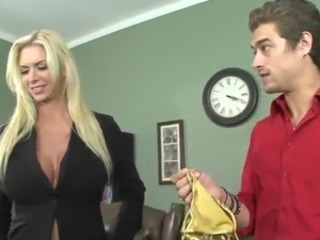 Passionate Brooke has shaged Rough inside An Office