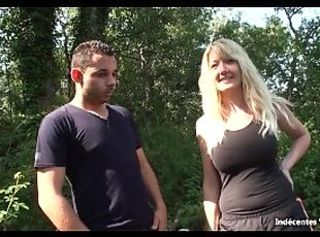 Perfect Boobs Blonde French MILF - She is Damn HOT