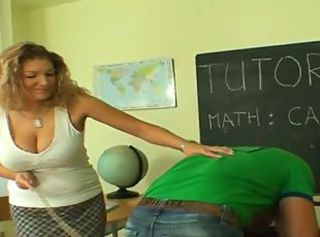 Cute Mom Teaching Young Boy _: blondes milfs old+young
