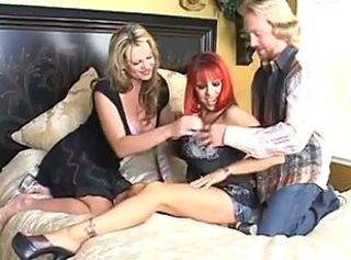 Couple share a redhead milf _: milfs threesomes