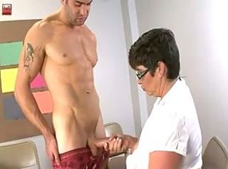 MILF Jerks Guy On her Big Tits _: big boobs matures milfs