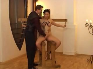 Brunette Gets Tied Up And Tortured And P...