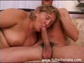Blowjob Chubby European Italian Mature Mom Old and Young