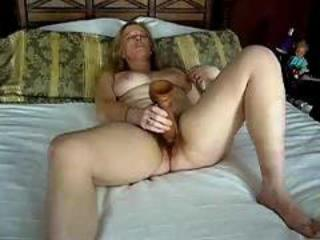 Doing the big dildo.  indestructible cum!!