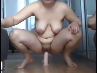 Amateur  Dildo Homemade Masturbating  Natural  Toy