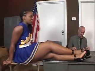 Cheerleader Chubby Ebony Interracial Teacher Uniform