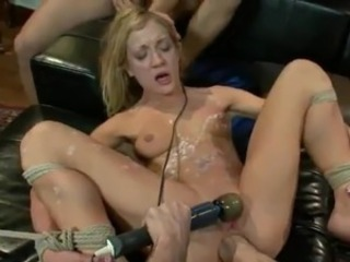 Adorable Blonde Satisfies couple Men And has Her Vag Fisted