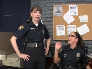 Couple honeys inside Police Uniform have slammed inside Their buttholes