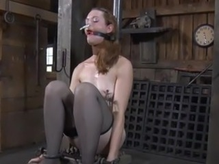 Tying up beauty for crazy torture