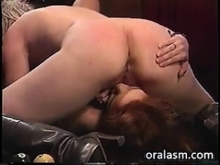 Lesbian Licking Pussy On A Pool Table