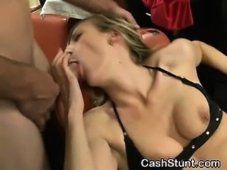 Blonde Amateur Fucked In Salon Chair During Cash Stunt