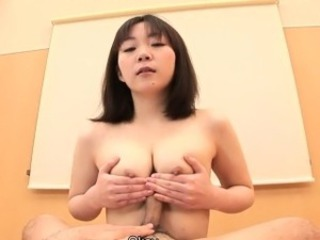 Titty fucking the dick with her Asian indiscretion
