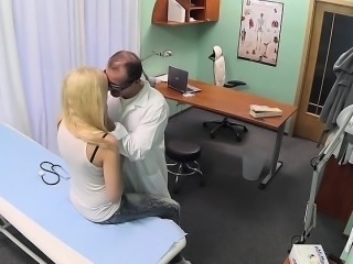 Sexy blonde fucking doctor in measure hospital